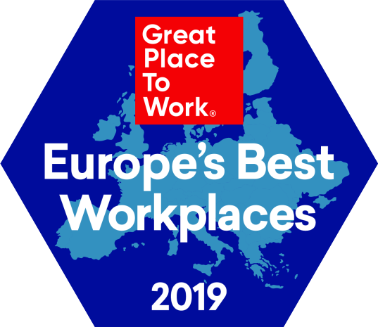 Great Place to Work Europe's Best Workplaces 2019